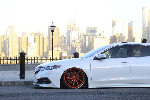 image of white car