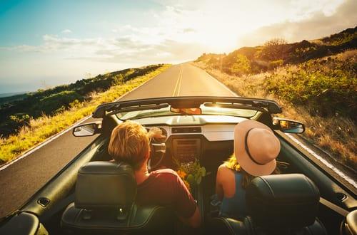 AA Auto couple on a romantic road trip
