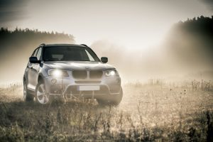 BMW X3 on gravel