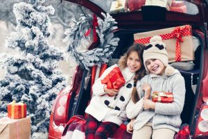 Happy Children Staying Safe During Holiday Travels