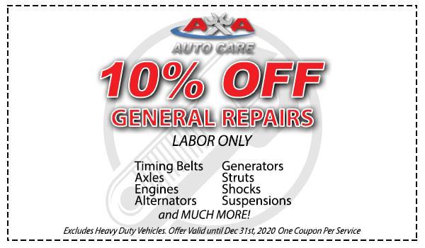 Auto Repair Coupon Las Vegas - AA Auto Care Coupons