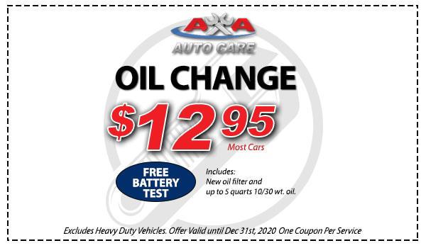Oil Change Service Coupon Las Vegas